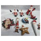 Dept 56 and other Assorted Santa Ornaments