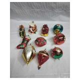 Assorted Large Glass Ornaments