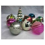 Assorted Hand-Painted and Vintage Glass Ornaments