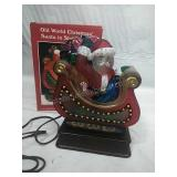 Old World Christmas Santa in sleigh light 10-year