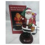 "Old World Christmas patriotic Santa light 11"""