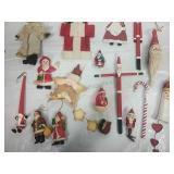 Assorted Santa Ornaments