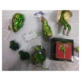 Assorted Frog Ornaments - Many NWT