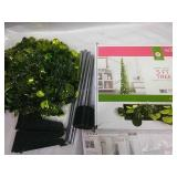 Pair of Green Tinsel 5 Ft Pop Up Trees - 1 NIB