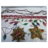 Pair of Star Tree Toppers & Assorted Beadeded