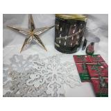 Ice drip icicle lights, glitter sequins snowflake
