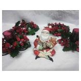 Midwest of Cannon falls two-piece ceramic Santa,