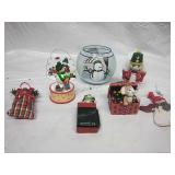 Hand-Painted Glass Candleholder and Assorted