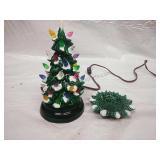 Vintage Mini Light Up ceramic Christmas tree