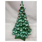 Vintage Holland Mold  Light Up Ceramic Xmas Tree