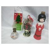 Vintage Oil Lamp, Plug in bird house and Assorted