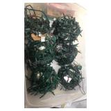 Six bundles of Christmas lights all tested