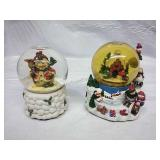 Pair of Musical Snowglobes - works