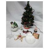 Light Up Xmas Tree, Ceramic Musical Snowman and