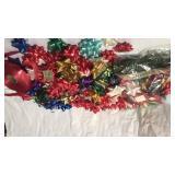 Lot of  adhesive bows and roll  of ribbon