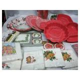 Assorted paper plates, napkins, cups and more -