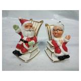 Lefton China Santa & Mrs Claus Salt and Pepper