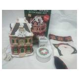 Electric holiday potpourri pot, pair of candles