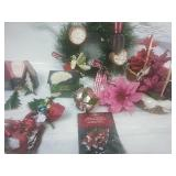 Small Wreath, Vintage Ornaments and Decor