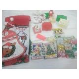 Stockings, Puzzles, Snowman Pin and Vintage