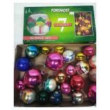 Assorted Vintage Glass Ornaments &  Bubble Bulb