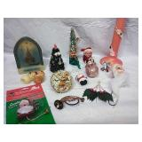 Vintage Shelf Elf, Candles, Ornaments and More