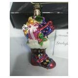 Christopher Radko Glass Ornament Made in Poland-