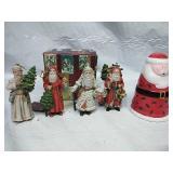 Enesco the Santa Claus shop 4 Piece porcelain