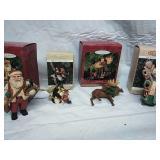 Four Hallmark Keepsake ornaments folk art