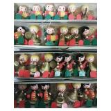 Vintage Wood Choir Angel Ornaments - two sets of