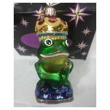 Christopher Radko Glass Frog Ornament Made in