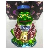 Christopher Radko Glass Leap Frog Ornament Made