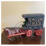 Cast Iron US Mail Wagon