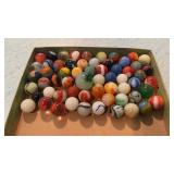 Lot of 60 Marbles