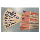 Vintage Political Cards & Bumper Stickers
