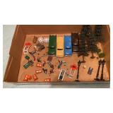 Lot of O Gauge People Cars Trees & More