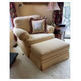 Sherrill upholstered Arm Chair & Ottoman
