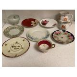 Mismatched China Cups & Saucers