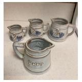 Pottery Measuring Cups