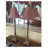 Pair of Table Lamps 30 inches Tall