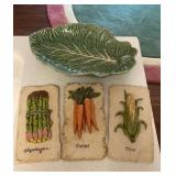 Cabbage Platter & Wall Hangers