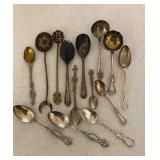 Lot of Sterling & Plated  Spoons