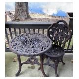 Small Plastic Table & Chair