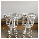 Metal Plant Baskets Cast Iron