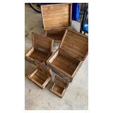 Birch Wood Nesting Boxes