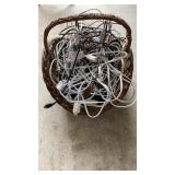 Basket of Cords & Power Strips