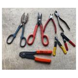 Lot of Cutters & Wire Strippers