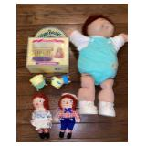 Lot of Mini Raggedy  Ann & Andy Cabbage Patch