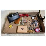 Misc Box Lot Ray Bans pocket Knife Parts Watch
