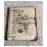 Antique Photo Album (7 Tin Type Photos + B/w)